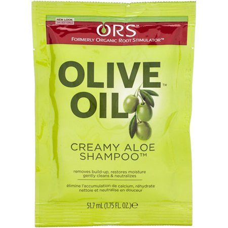 (4 Pack) Organic Root Stimulator Olive Oil Creamy Aloe Shampoo, 1.75 Ounce