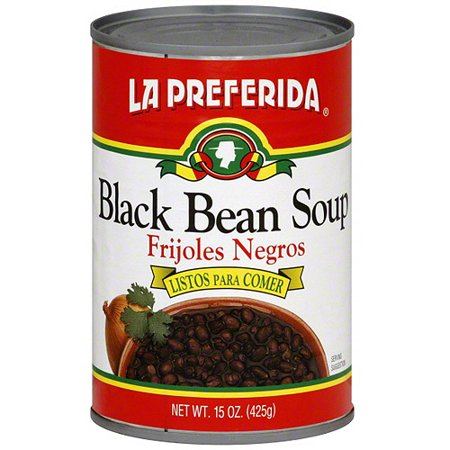 La Preferida Black Bean Soup, 15 oz (Pack of 12) 10 Bean Soup