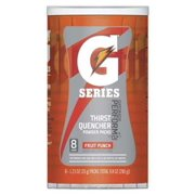Gatorade Sports Drink Mix Powder, Fruit Punch 1.23 oz., PK8, 131666