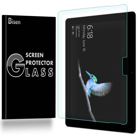 [2-Pack] BISEN Microsoft Surface Go Screen Protector Tempered Glas, Ultra Thin (0.3mm), Anti-Scratch, Anti-Shock, Shatterproof Da Glas Screens Video