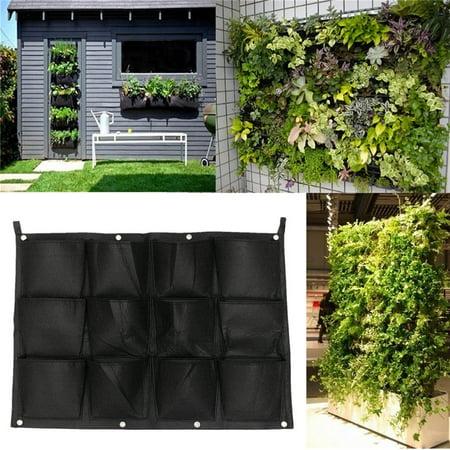 12 Pockets Indoor Outdoor Vertical Garden Wall Planter Hanging Planting Bag Grow Bags Garden Pot - image 6 of 6