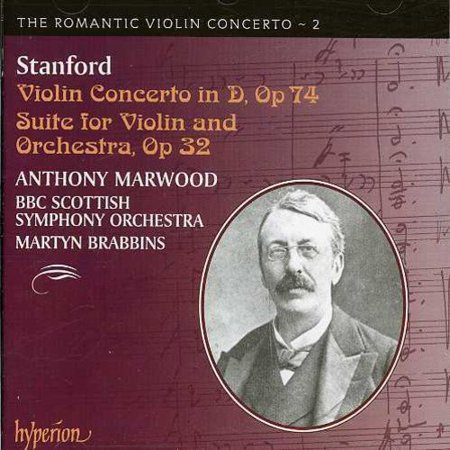 The Music Of Charles Villiers Stanford Is Probably Most Familiar To Listeners Who Are Aquatinted With The Many Sacred Choral Works That He Wrote For The Anglican Church  The Irish Born Stanford Was One Of The Most Revered Musical Figures In Edwardian England And Was The Influential Teacher Of Vaughan Williams  Howells  And Holst  Stanford Was Also A Violinist And This Recording  Part Of Hyperions  Romantic Violin Concerto  Series  Features Two Of Stanfords Large Scale Works For Violin And Orchestra The Suite Op  32 Is A Five Movement Work That Pays Tribute To The Music Of The Baroque Era  Each Of The Five Movements Makes Great Demands On The Violin Soloist  Especially The Bach Flavored  Ouverture   Violin Soloist Anthony Marwood Is Up To The Challenges Presented By This Obscure But Engaging Work  Playing The Silky Legato Lines With Lyricism  The Concerto In D Major Is A Massive Work That Bears Brahms Influence  Particularly In The Orchestral Accompaniment  Once Again Marwood Proves That Hes A Skilful Soloist  Weaving Rich Melodic Lines In The Lovely Second Movement  The Bbc Scottish Symphony Orchestra Provides Him With Energetic Accompaniment And Makes This A Real Treat For All Lovers Of Grand Violin Concertos
