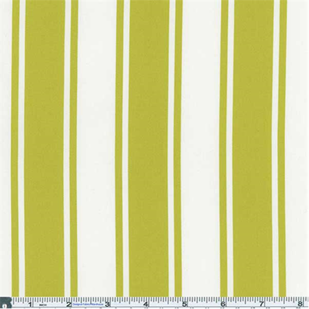 - Lime Green/White Stripe Decor Cotton Twill, Fabric Sold By the Yard