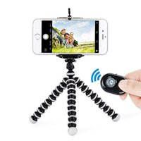 Octopus Style Portable Tripod Stand with Wireless Bluetooth Remote Shutter For iPhone X /XS / XS Max /XR 8 / 8 Plus 7 / 7 Plus 6 6s Plus iPhone X - Black