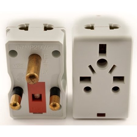 VCT VP 118 - Universal 2-Outlet Plug Adapter for South Africa with Fuse Protection