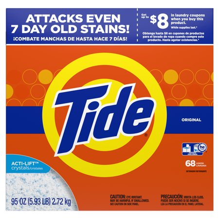 Tide Powder Laundry Detergent, Original, 68 loads, 95