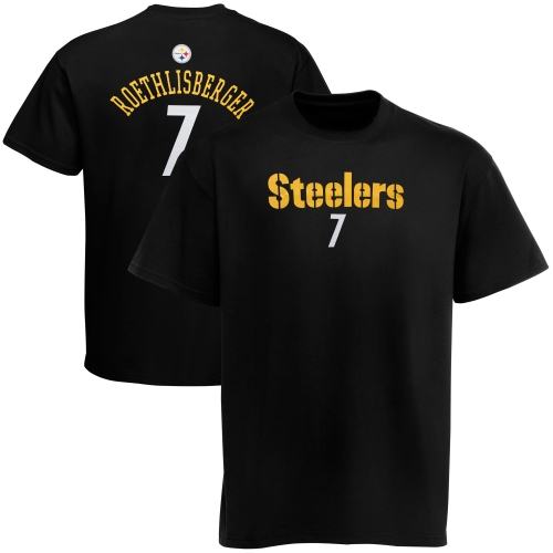 Ben Roethlisberger Pittsburgh Steelers Youth Primary Gear Player Name & Number T-Shirt - Black - Yth XL