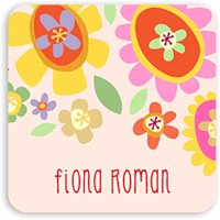 Bright Floral - Personalized 1.75 x 1.75 Square Seal Sticker