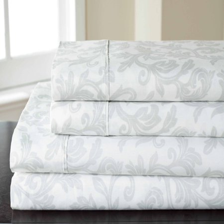 T25o Home Styles Damask Cotton Rich Sheet Set Walmart Com