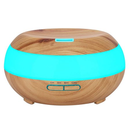 Brown Mist - KEDSUM Aroma Essential Oil Diffuser Wood Grain Ultrasonic Cool Mist Aromatherapy Humidifier 300ml