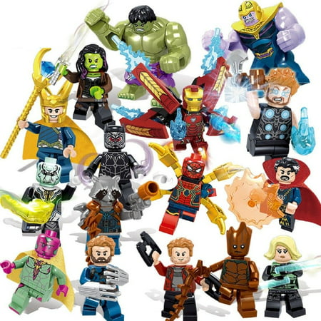 Marvel Super Heroes Avengers 3 Infinity War Action Figure LEGO COMPATIBLE SET - Marvel Lego Sets