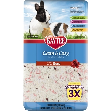 CENTRAL - KAYTEE PRODUCTS, INC CLEAN AND COZY ROSE - 500 CU IN