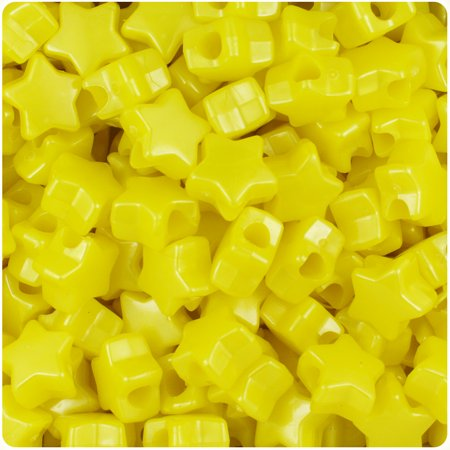 BeadTin Yellow Pearl 13mm Star Pony Beads (250pcs)](Star Beads)