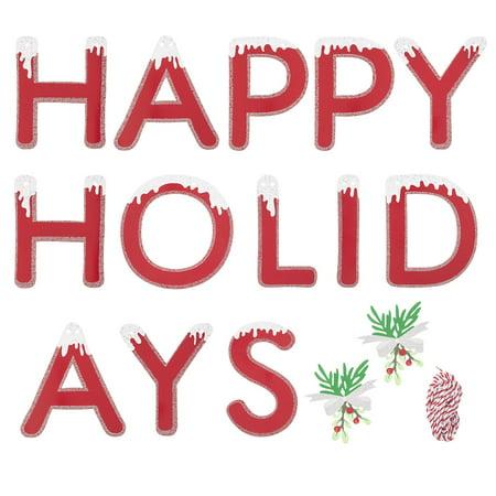 Martha Stewart Crafts Red Happy Holidays Garland, 16 Pieces ()