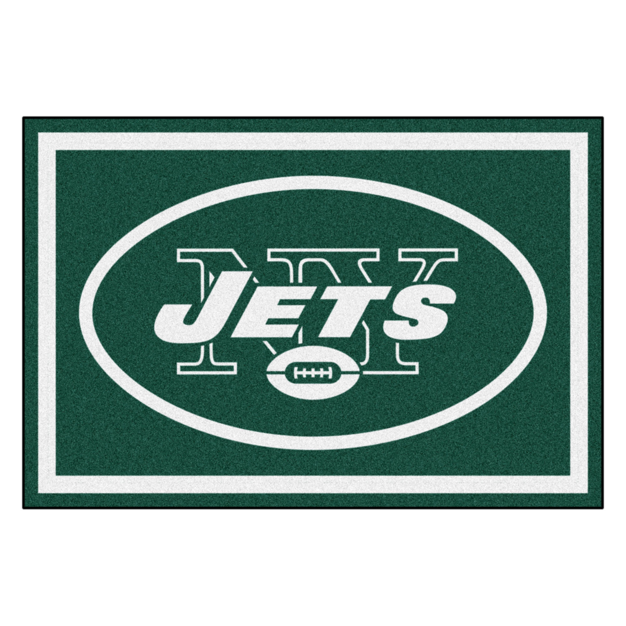 NFL New York Jets 5 x 8 Foot Plush Non-Skid Area Rug