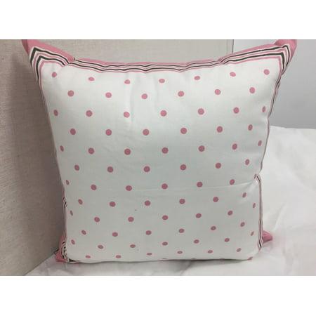 Nautica Pink Polka Dot Decorative Throw Pillow, 15''x15''