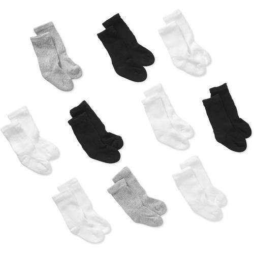 Garanimals Assorted Baby/Toddler Unisex Crew Socks, 10-pack