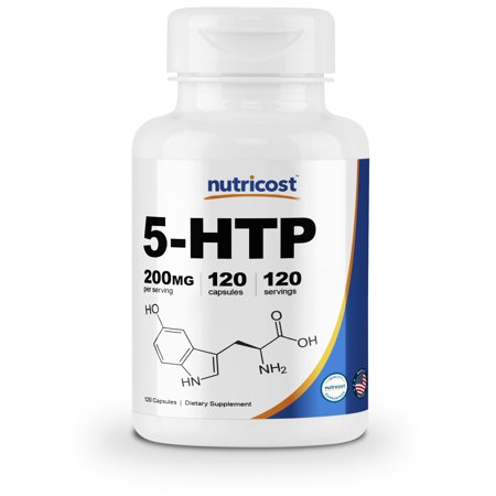 Nutricost 5-HTP 200mg, 120 Veggie Capsules (5-Hydroxytryptophan) - Gluten Free & (5 Htp And L Tyrosine With Adderall)
