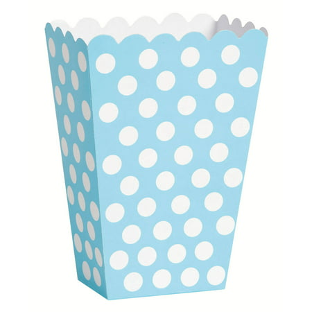 Toy Story Treat Boxes (Light Blue Polka Dot Treat Favor Boxes,)