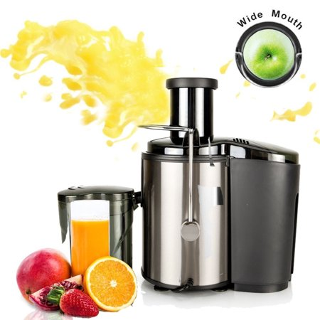 Ktaxon Juicer Wide Mouth Juice Extractor 800 Watt Centrifugal Juicer Machine Powerful Whole Fruit and Vegetable Juicer with Juice Jug ,2 Speed Setting Stainless (Best Small Juicer Machine)