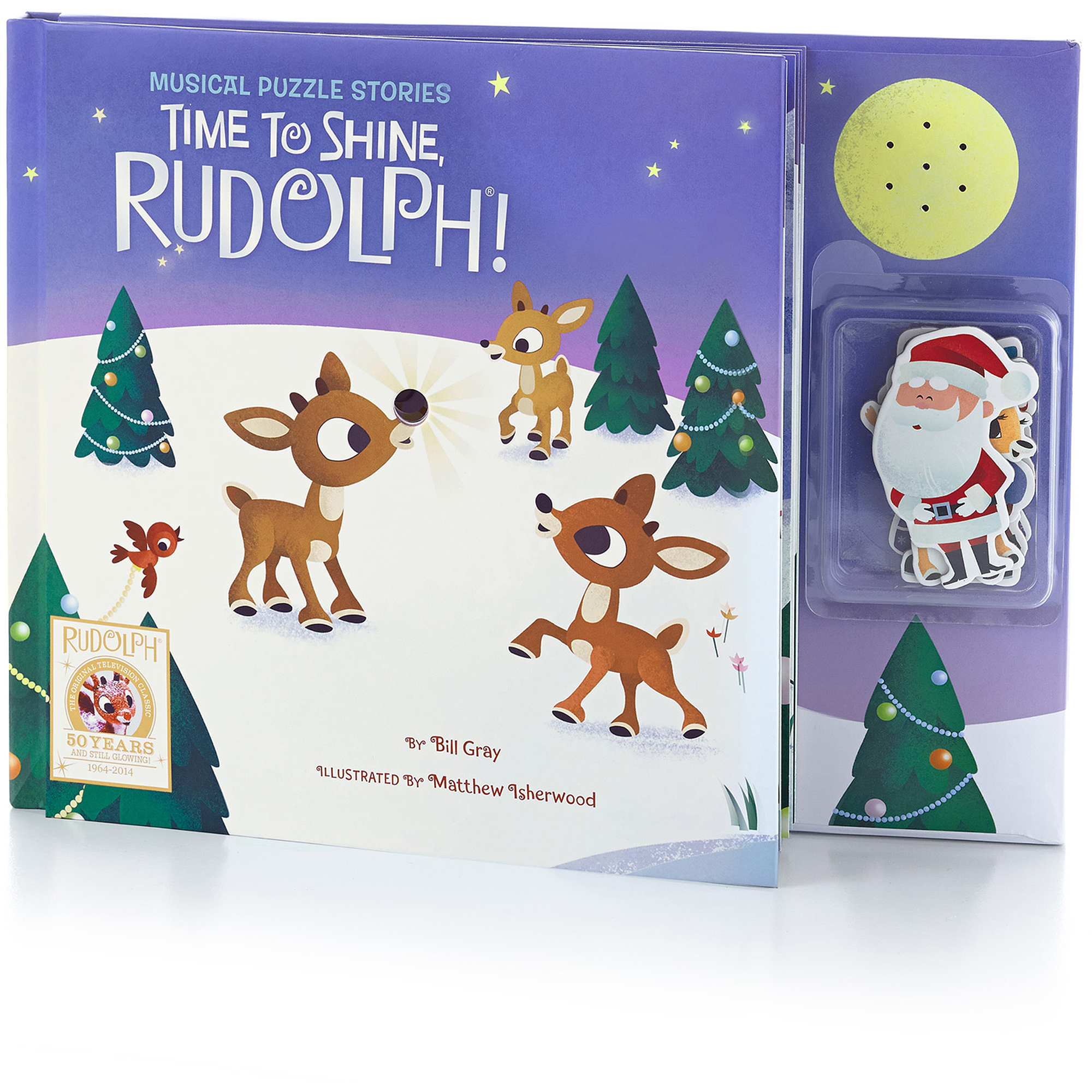 Hallmark Rudolph Musical Puzzle Book, Time to Shine
