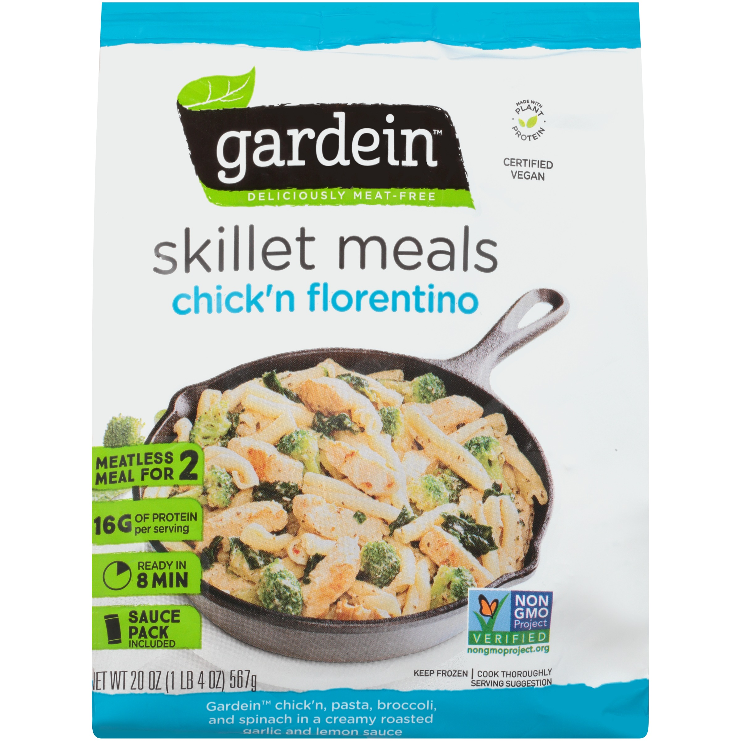 Gardein™ Chick'n Florentino Deliciously Meat-Free Skillet Meals 20 oz. Bag