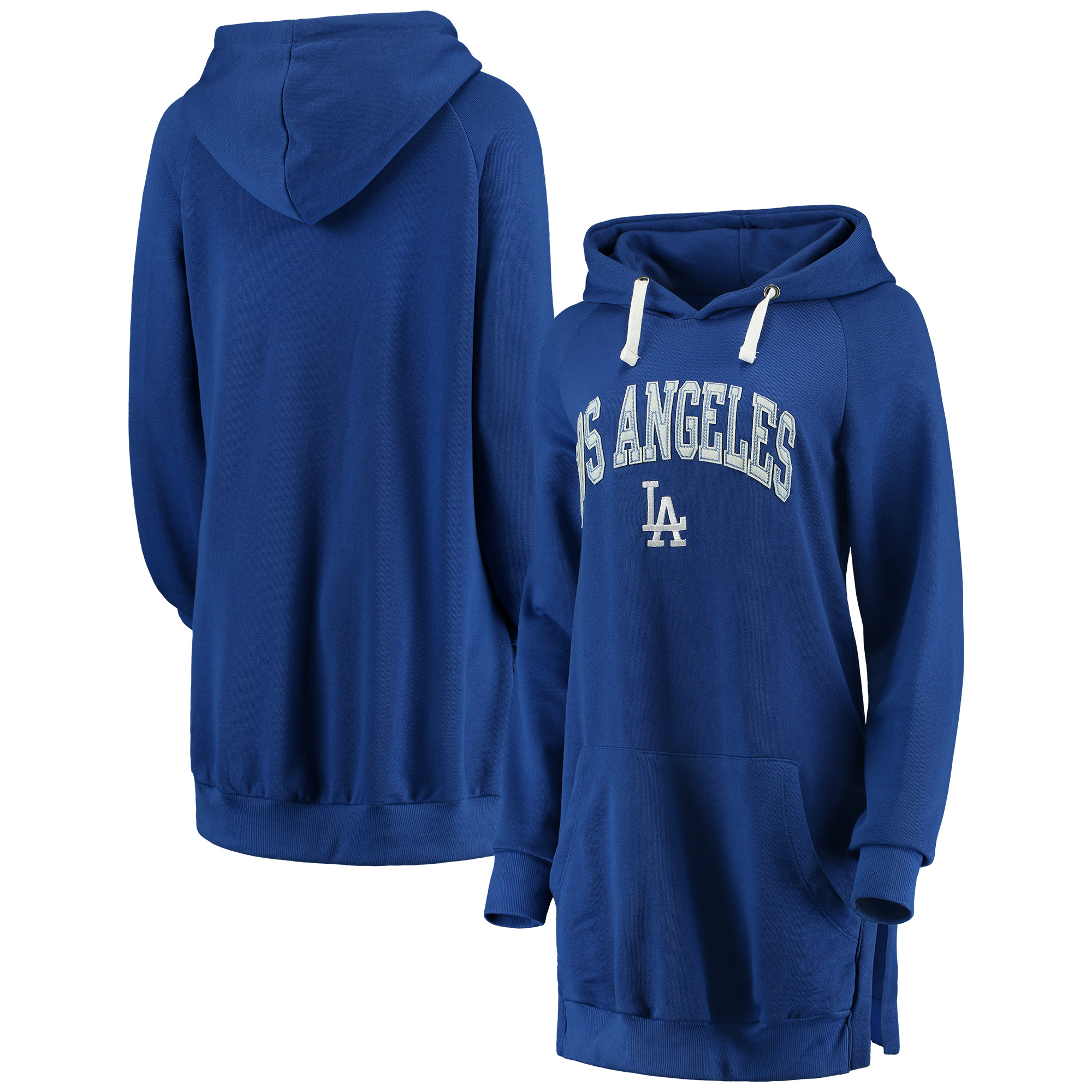 Los Angeles Dodgers Soft as a Grape Women's Oversized French Terry Pullover Hoodie - Royal