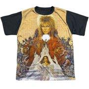 Labyrinth - Cover Art - Youth Short Sleeve Black Back Shirt - Large