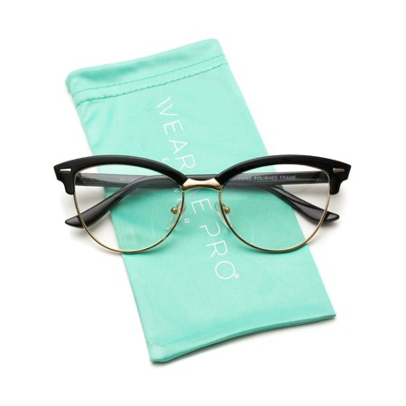 WearMe Pro - New Semi-Rimless Retro Cat Eye Fake (Where Do You Buy Fake Glasses)