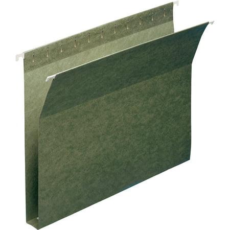 Box Bottom Hanging File Folders - Smead, SMD64239, Hanging Box Bottom Expanding File Folders, 25 / Box, Standard Green