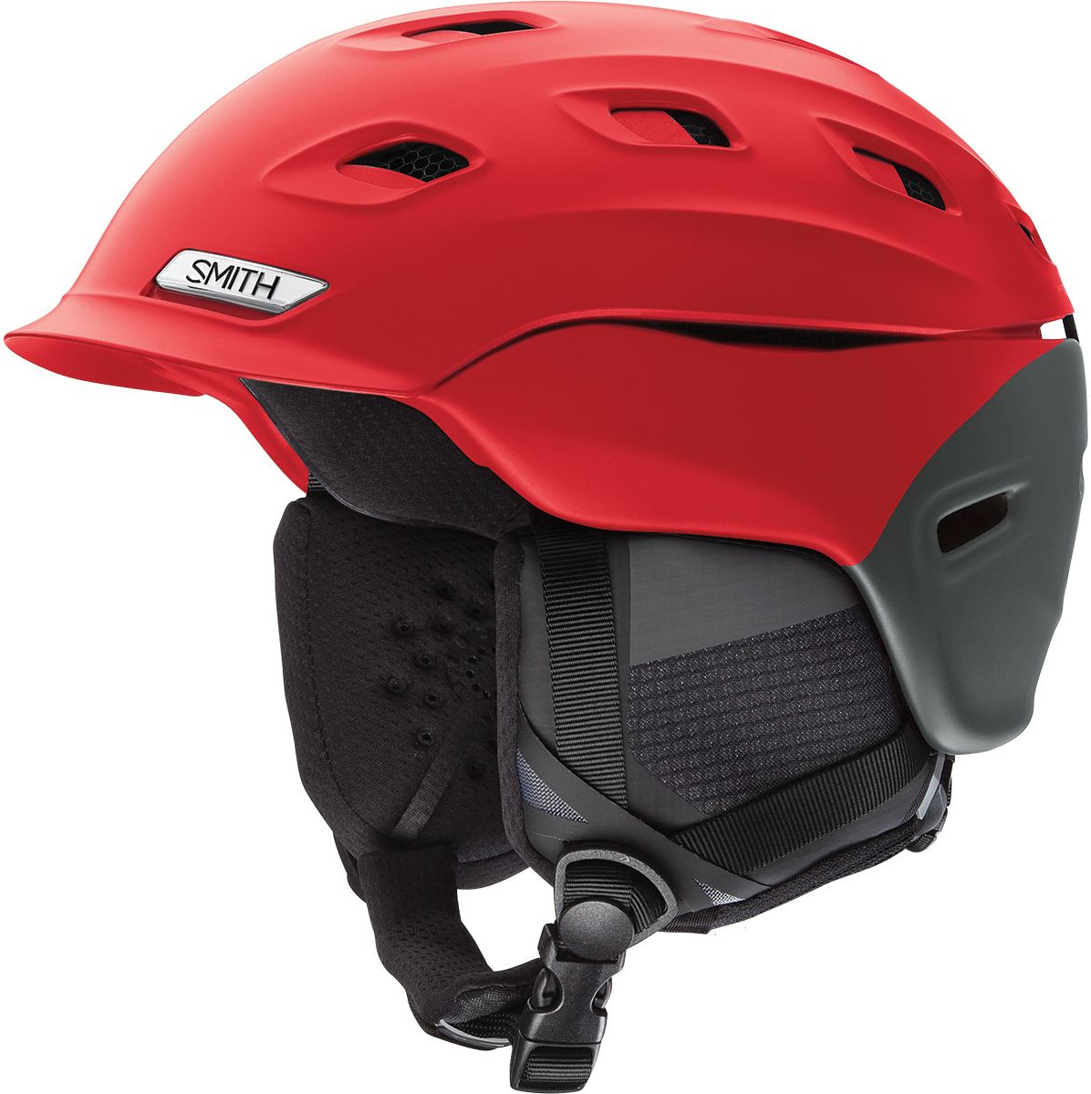 Smith Optics Vantage Ski Snow Helmet (Matte Fire Split Large) by Smith Optics
