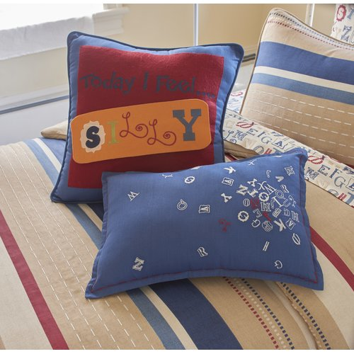 Zoomie Kids Carpio Alphabet Cotton Lumbar Pillow