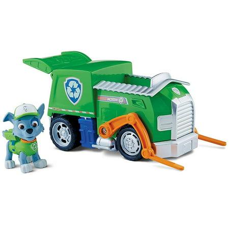 paw patrol basic vehicle rocky s recycling truck walmart com