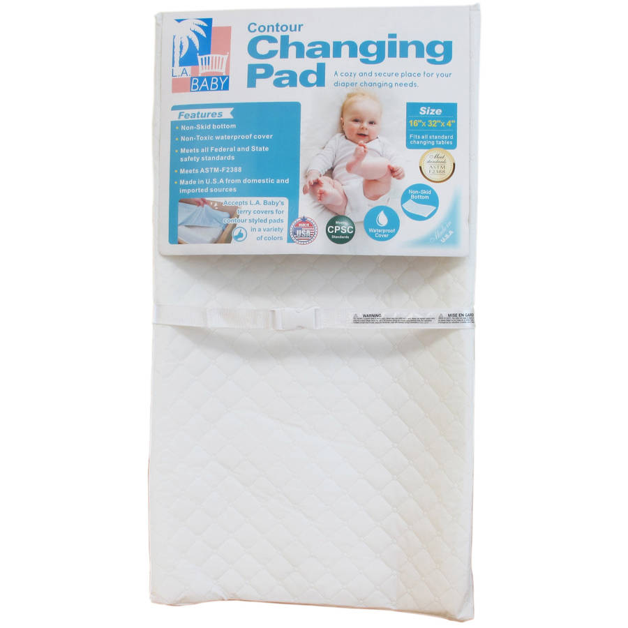 "LA Baby 32"" Contour Changing Pad, White"