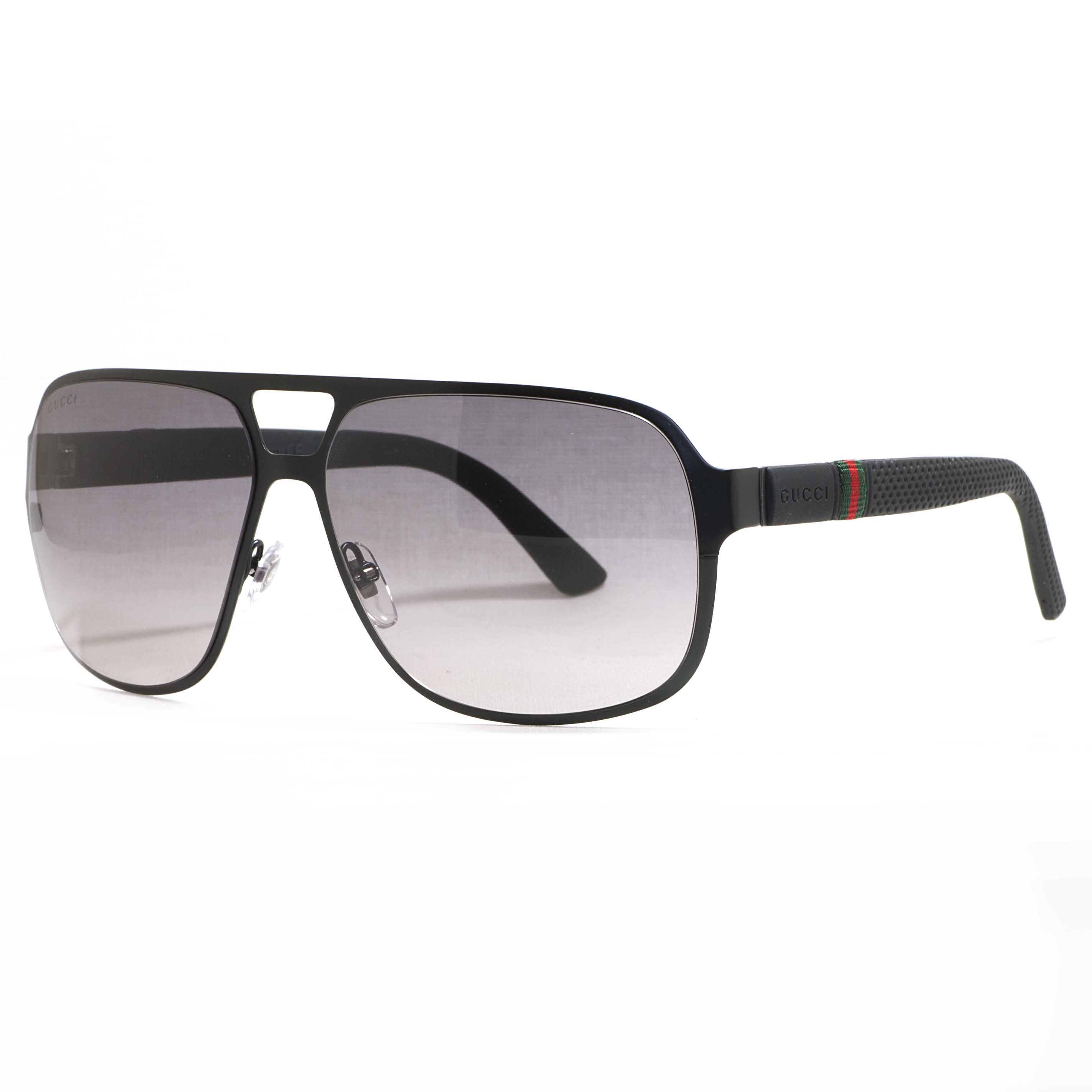 matte black aviators  Gucci GG 2253/S 0M7A/EU Semi Matte Black Grey Gradient Men\u0027s ...