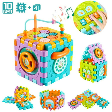 Baby Activity Cube for 1 Year Old, Toddler Activity Center ...