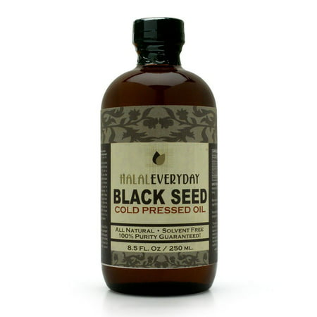 - HalalEveryDay Black Seed Oil, Cold Pressed, 8.5 oz.
