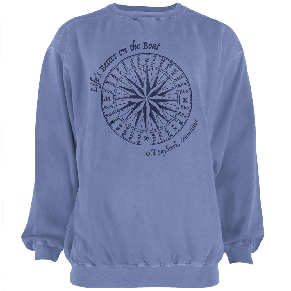 Summer Sun Life's Better on the Boat Old Saybrook Mens Sweatshirt Pigment Dyed