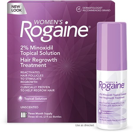 Rogaine Womens Hair Regrowth Treatment Topical Solution - Three Month Supply