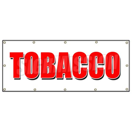48 X120  Tobacco Banner Sign Cigarettes Cigar Cigs Pipes Vape Smoke Tobacconist