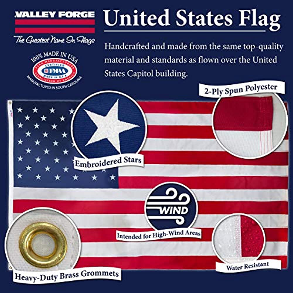 Koralex Ii 6 X10 Spun Polyester U S Flag By Valley Forge Flag Walmart Com Walmart Com