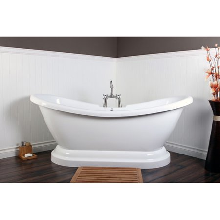 kingston brass aqua eden 69'' x 28'' freestanding soaking bathtub