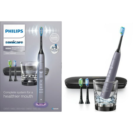 Philips Sonicare DiamondClean Smart Electric, Rechargeable Toothbrush for Complete Oral Care – 9300 Series, Gray, HX9903/41