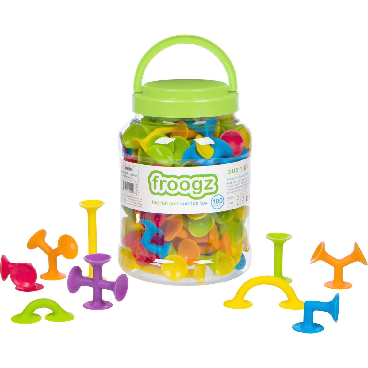 Froogz - 100 Piece Suction Toy Construction Set | Educational Building Kit