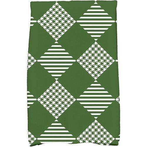 """Simply Daisy 16"""" x 25"""" Check It Twice Holiday Geometric Print Kitchen Towel by E By Design"""