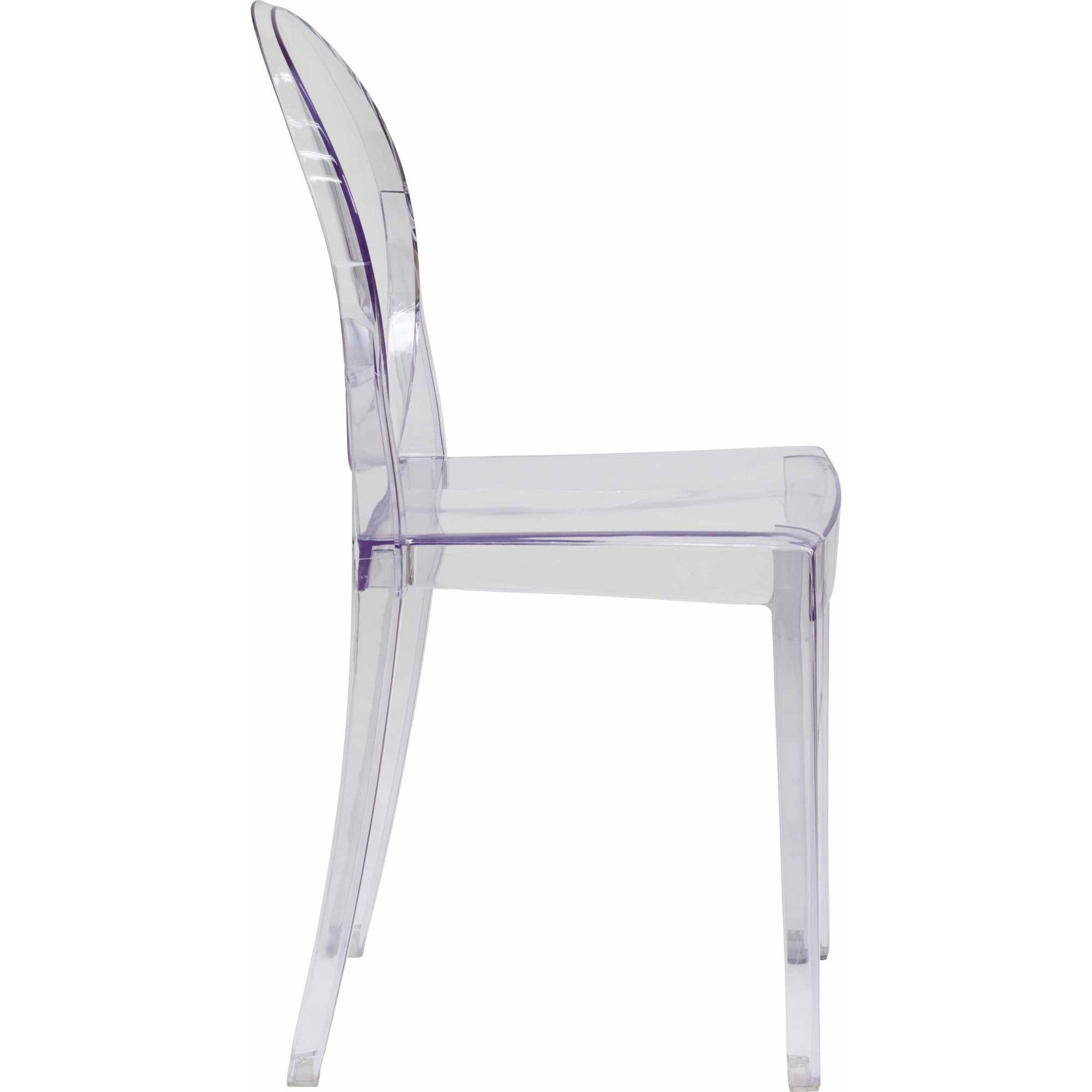 flash furniture ghost side chair transparent crystal  walmartcom -