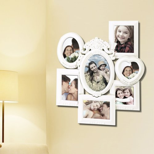 Adeco Trading 7 Opening Decorative Wall Hanging Collage Picture Frame