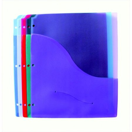 Diskette Pockets (Polypropylene Durable Folder Page With DisKette Pocket, 11 x 8.5 In. - Assorted Colors, Pack 5 )
