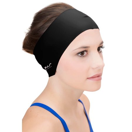 Sync Hair Guard & Ear Guard Headband - Wear Under Swimming Caps - Horse Ears Headband