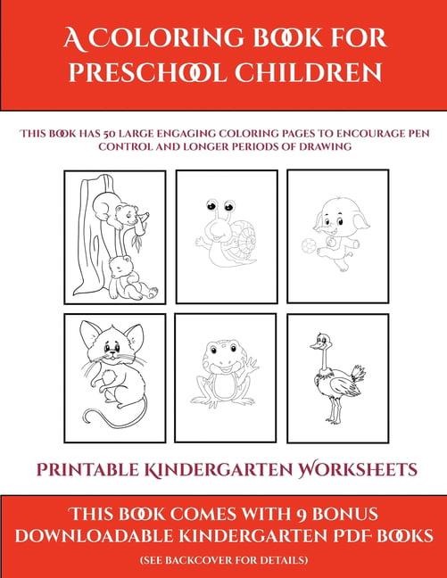 Printable Kindergarten Worksheets: Printable Kindergarten Worksheets (A Coloring  Book For Preschool Children) : This Book Has 50